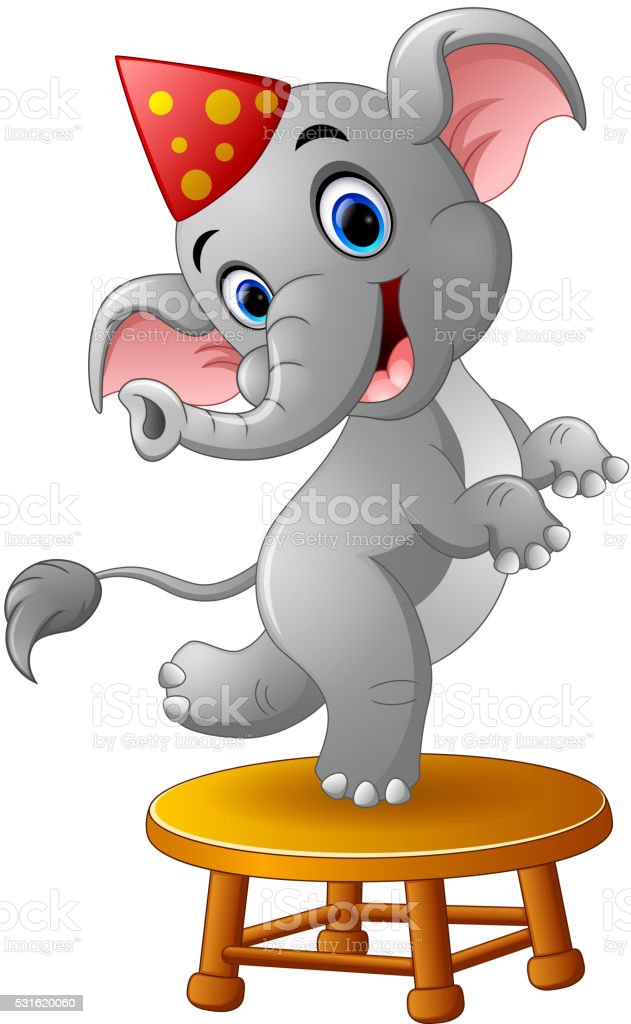Circus Elephant Cartoon vector art illustration