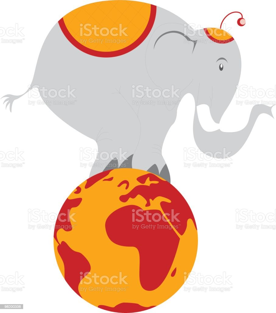 circus elephant royalty-free circus elephant stock vector art & more images of animal