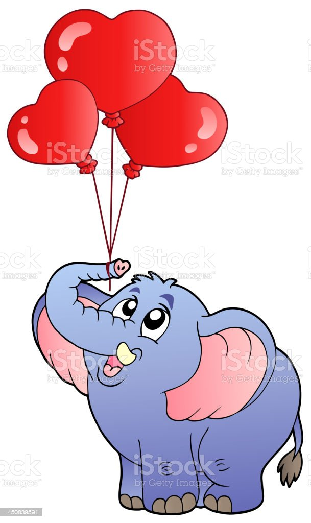 Circus elephant with balloons 2 royalty-free circus elephant with balloons 2 stock vector art & more images of animal
