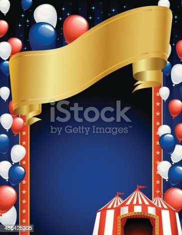 istock Circus Frame with Balloons 455425305