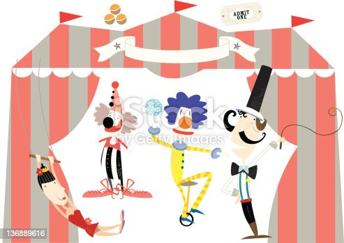 circus in town - acrobats