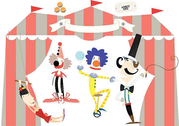 circus in town - acrobats vektorkonstillustration
