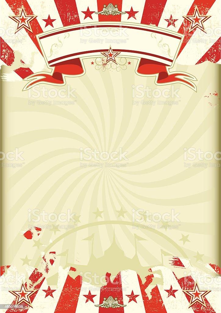circus kraft sunbeams poster vector art illustration