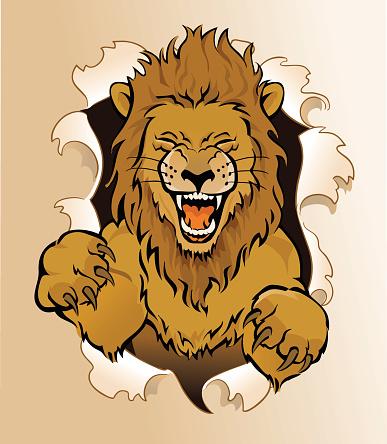 Circus Lion Jumping - Tearing Through Paper