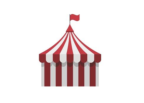 circus marquee simple illustration