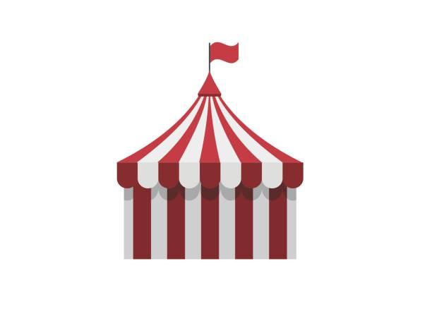 zirkus zelt einfache darstellung - dachzelt stock-grafiken, -clipart, -cartoons und -symbole