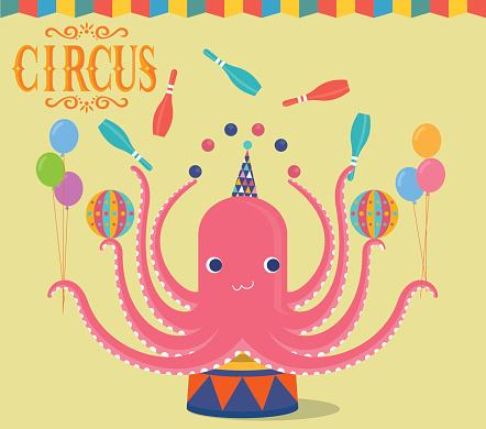 Circus Octopus juggling