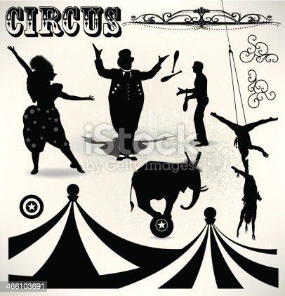 Circus Performers - Entertainment Event illustration. Circus tent. Check out my