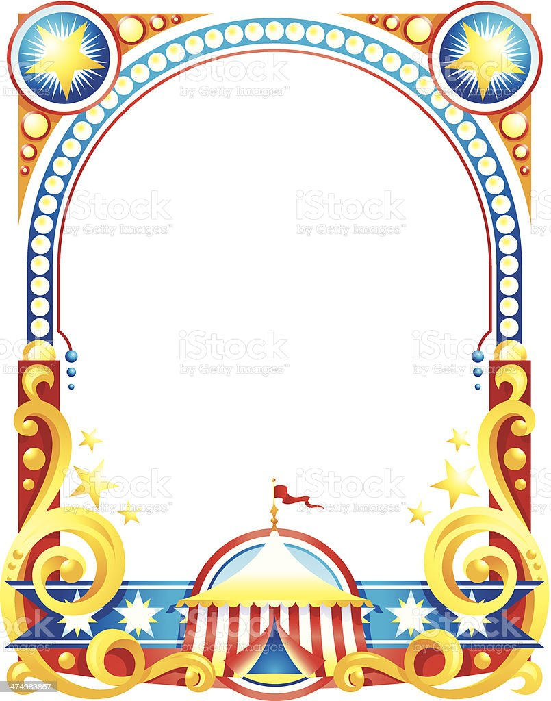 Circus Poster Frame C Stock Vector Art & More Images of Circus ...