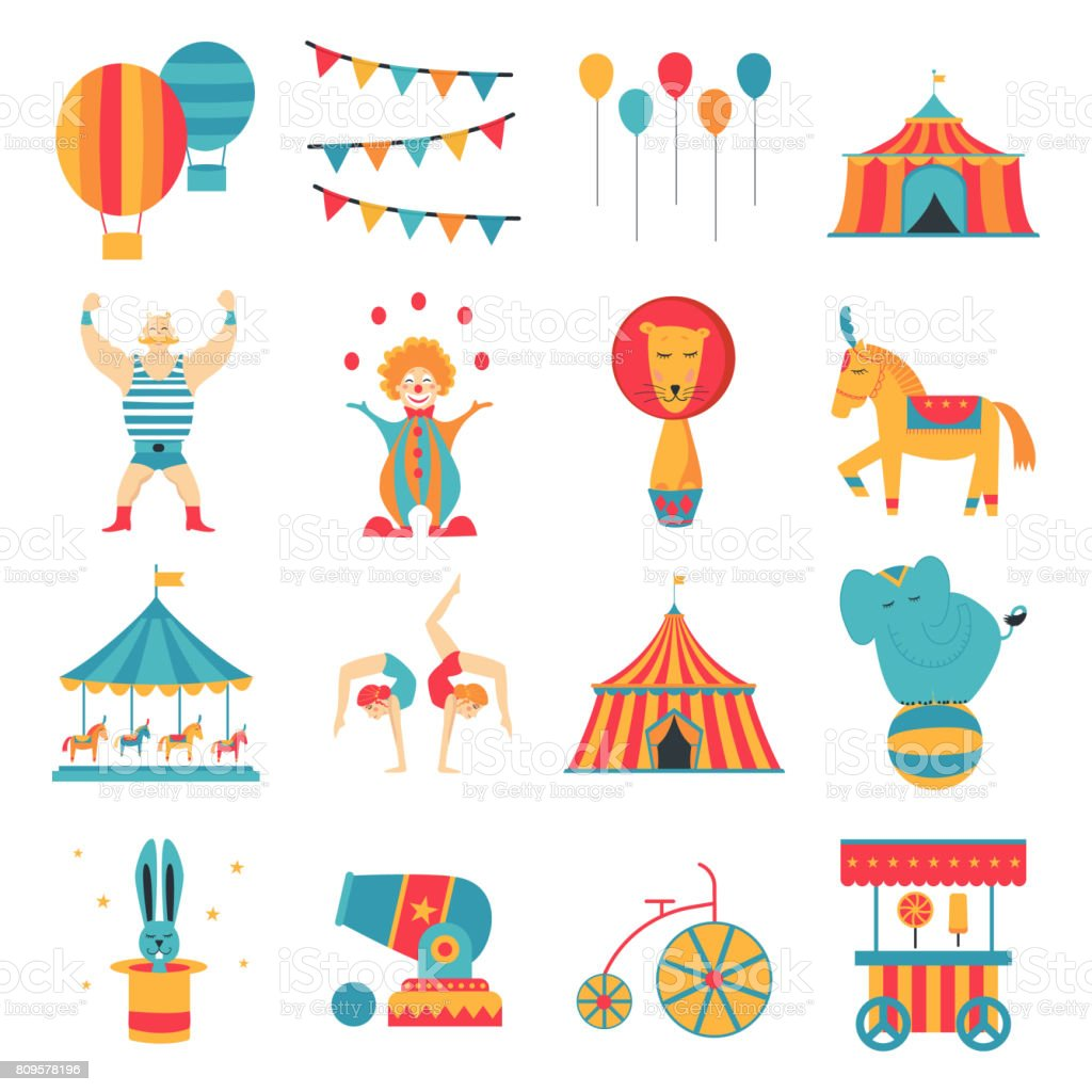 circus poster vector vector art illustration