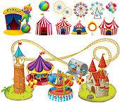 Circus rides and tents