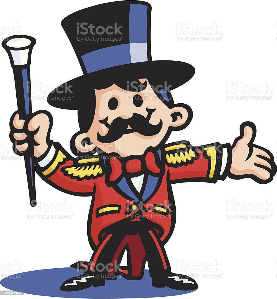 Circus Ringmaster vector art illustration