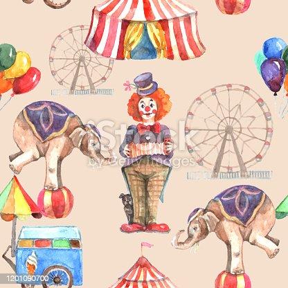 istock circus seamless pattern 1201090700