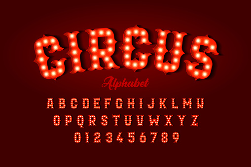 Circus style font