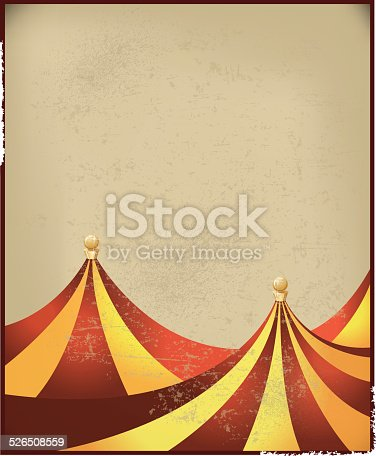 Retro background illustration of Circus Tent. Check out my