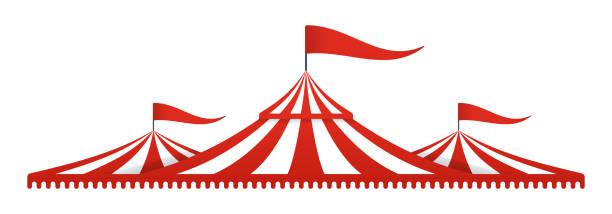 Circus Tent Big Top vector art illustration