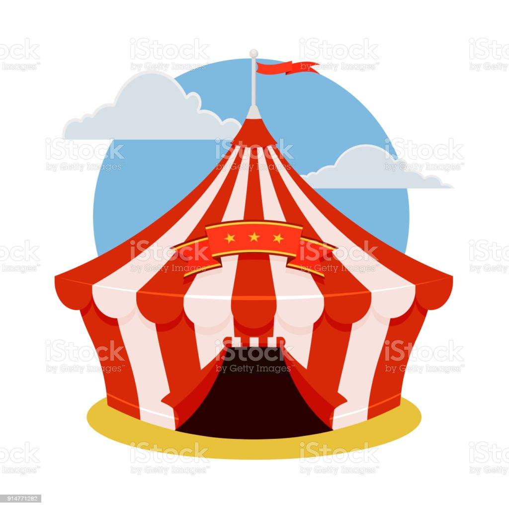 Vetores De Icone De Tenda De Circo Ilustracao Dos Desenhos
