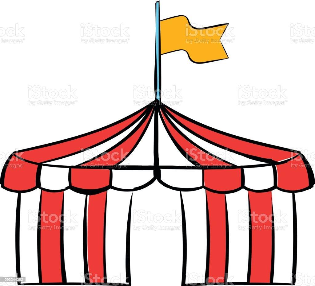 Vetores De Desenho De Icone De Tenda De Circo E Mais Imagens De