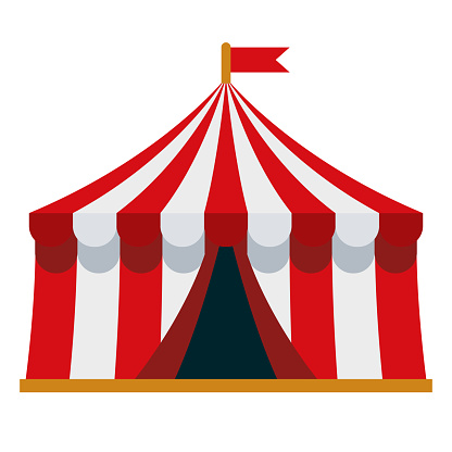 Circus Tent Icon on Transparent Background
