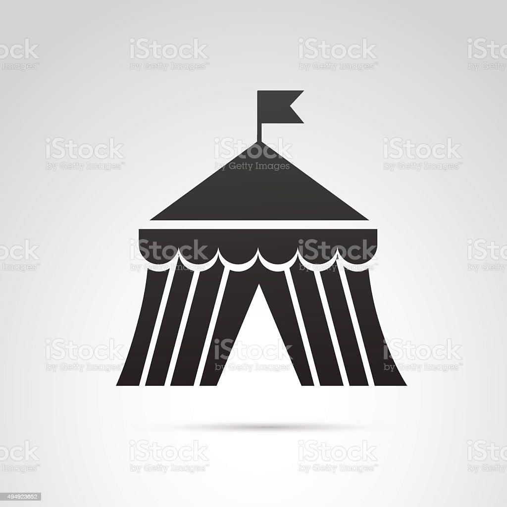 Circus tent icon. vector art illustration
