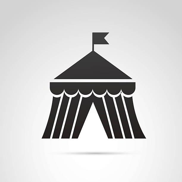 circus tent-symbol. - dachzelt stock-grafiken, -clipart, -cartoons und -symbole