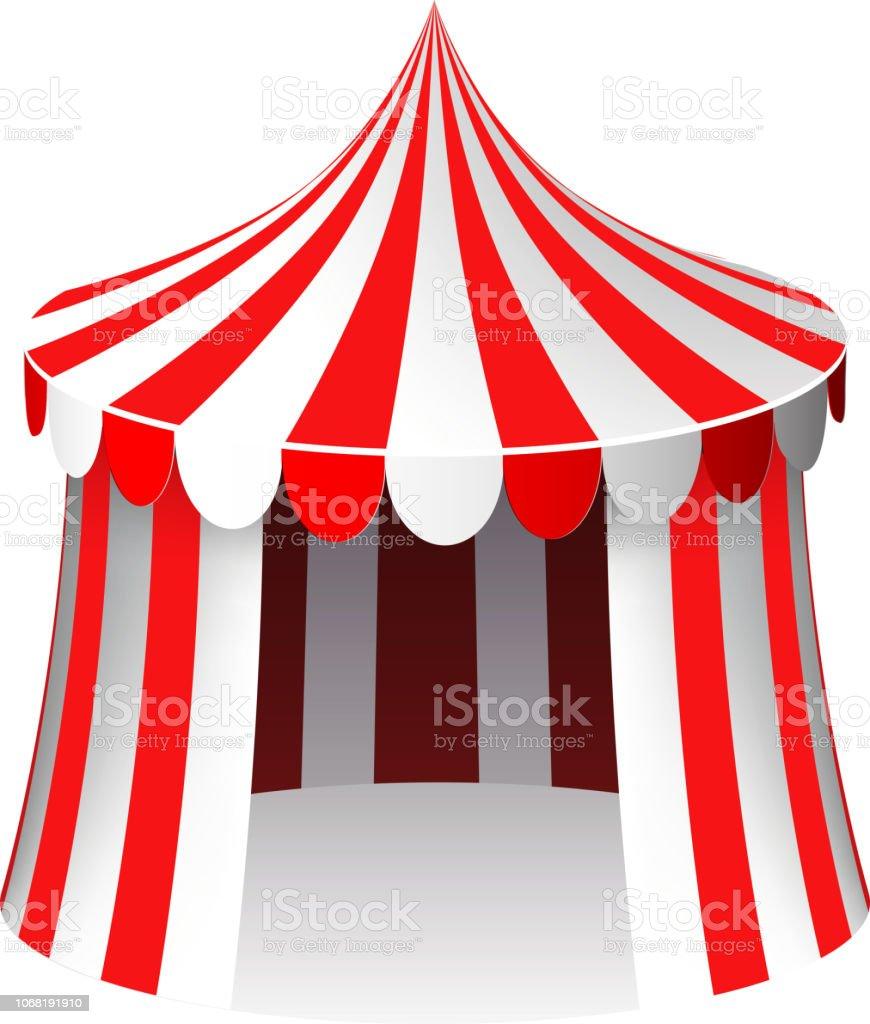 Vetores De Tenda De Circo Isolado Ilustracao Em Vetor 3d Realista