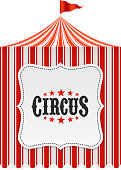Circus tent, poster background