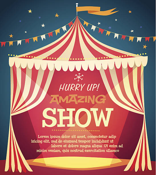 circus tent poster - circus stock illustrations
