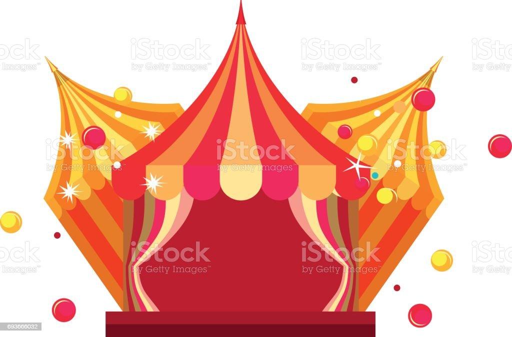 circus tent show vector art illustration