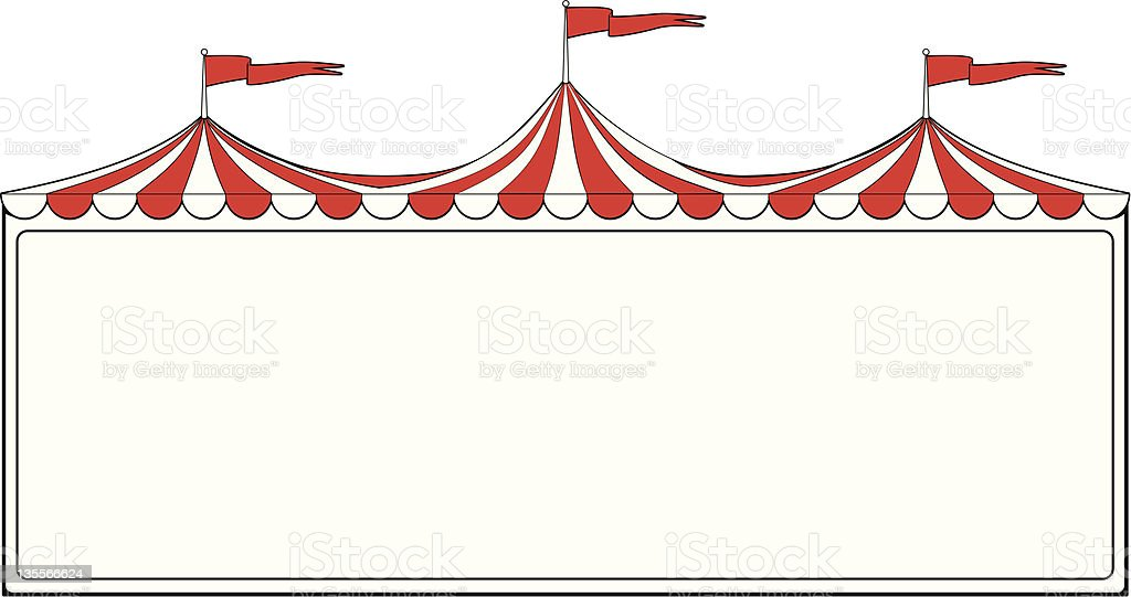 Circus tent sign vector art illustration