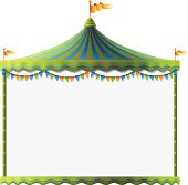 Circus tent sign. High Resolution JPG,CS5 AI and Illustrator EPS 8 included. Each element is named,grouped and layered separately.