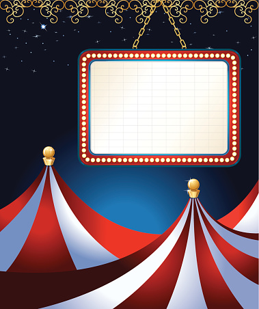 Circus Tent Theater Marquee Background