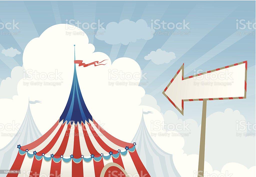 Circus tent top royalty-free stock vector art