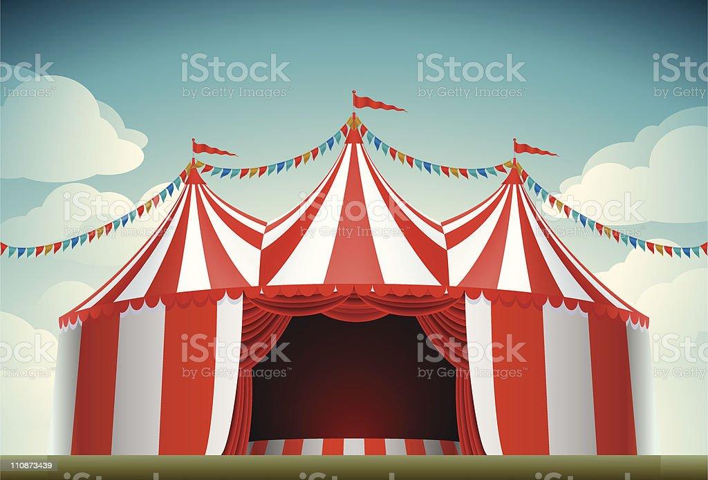 Chapiteau de cirque - Illustration vectorielle