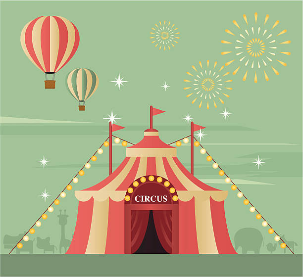 circus tent - circus stock illustrations