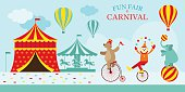 Circus Tent with Clown Show