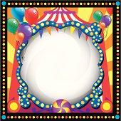 circus theme blank frame
