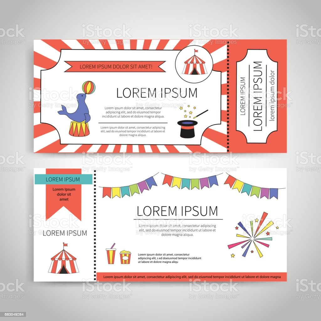 Circus tickets design