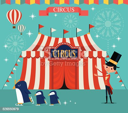 A circus performance with cute animals