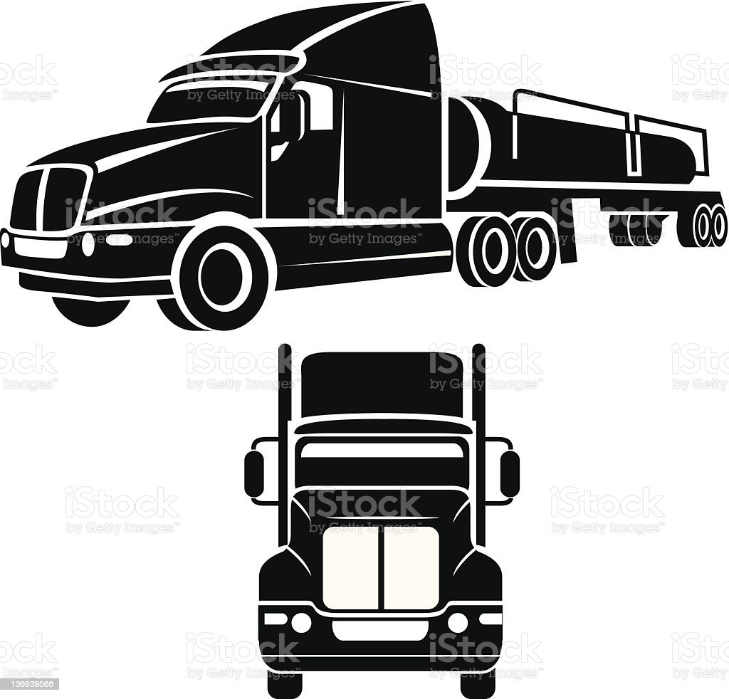 Cistern truck vector vector art illustration