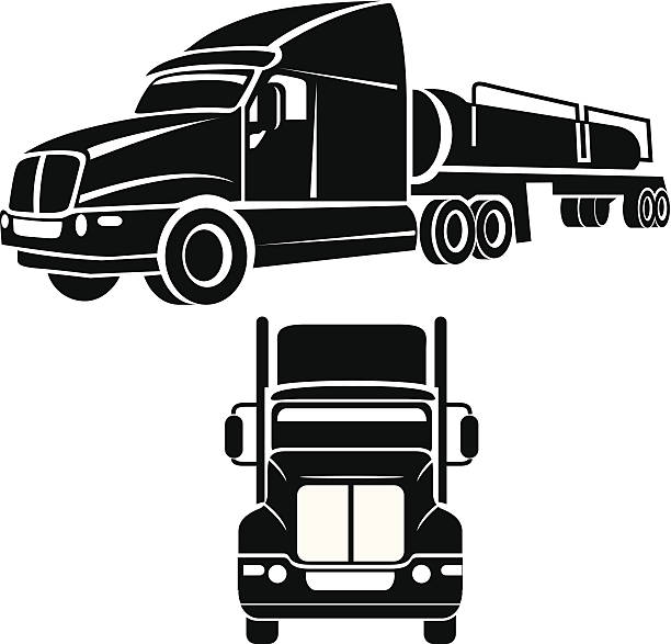 royalty free tractor trailer clip art vector images illustrations