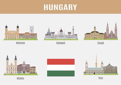 Cities in Hungary