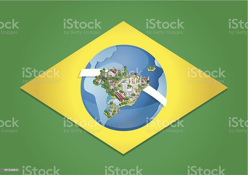 Cities of Brazil. royalty-free stock vector art