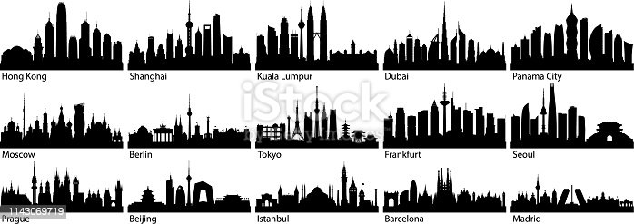 Cities. All buildings are complete and moveable.