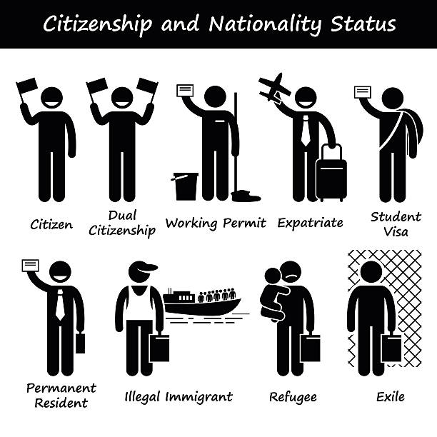 Citizenship and Nationality Pictogram vector art illustration
