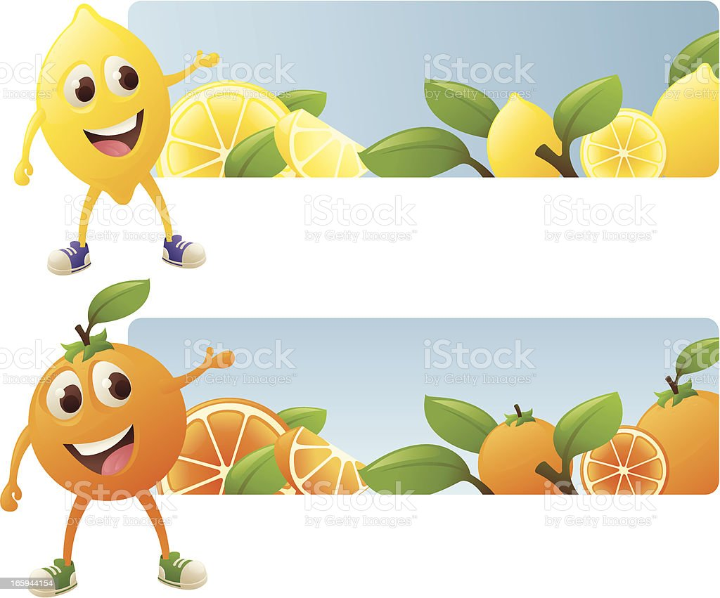 Citrus Banners royalty-free stock vector art