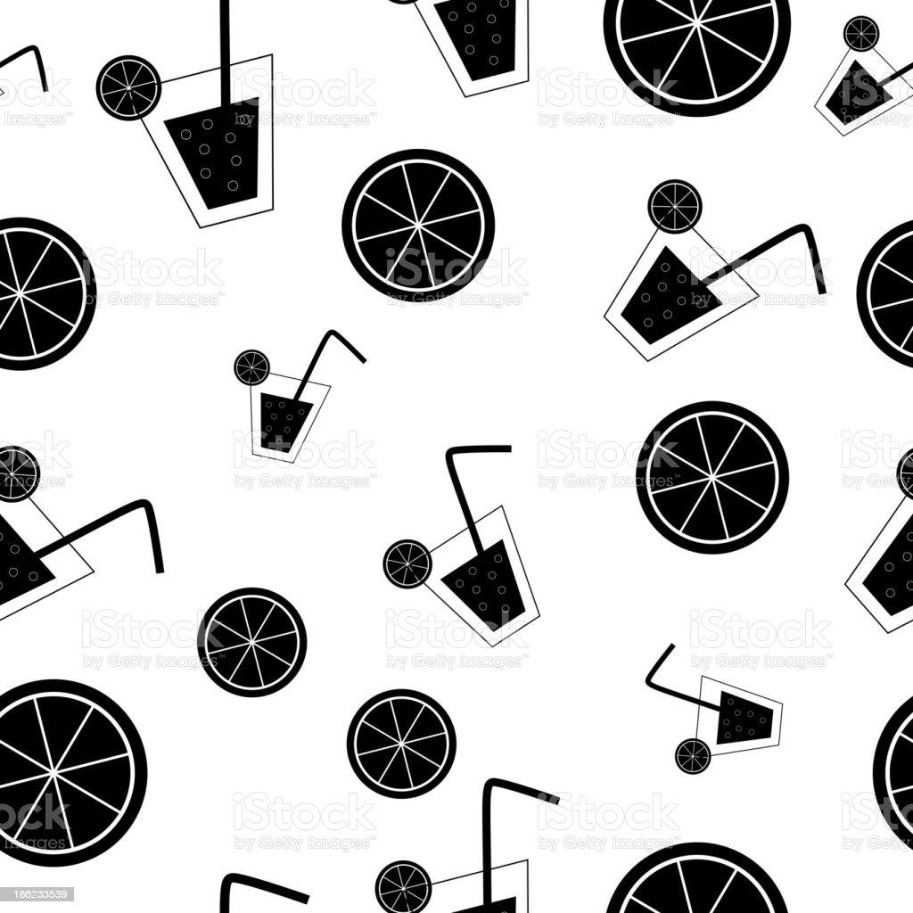 citrus Cocktail seamless pattern background vector illustration vector art illustration