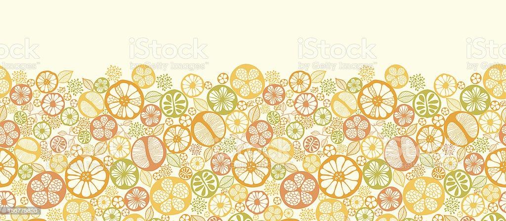 Citrus Fruit Seamless Horizontal Pattern Border royalty-free stock vector art