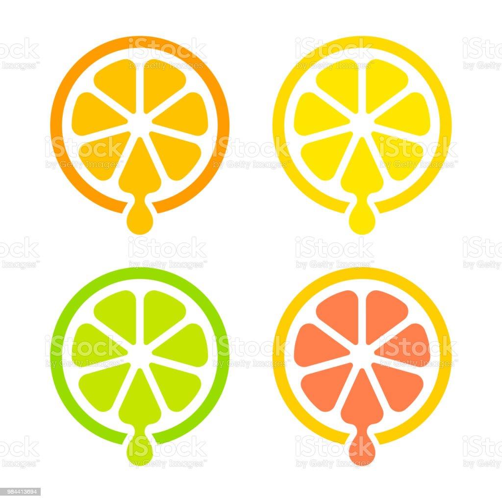 Saft von Zitrusfrüchten Symbol - Lizenzfrei Alkoholfreies Getränk Vektorgrafik