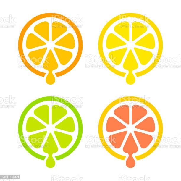 Saft Von Zitrusfrüchten Symbol Stock Vektor Art und mehr Bilder von Alkoholfreies Getränk